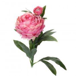 Koopman Umělá květina Pivoňka tmavě růžová, 61 cm