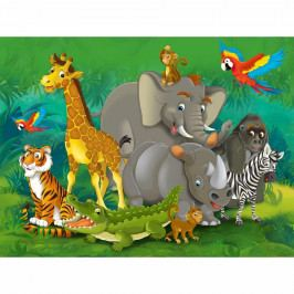 AG Art Dětská fototapeta XXL Zvířata v džungli 360 x 270 cm, 4 díly