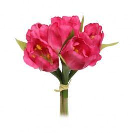 Umělá květina svazek Tulipán, růžová,