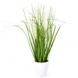Umělá kvetoucí tráva Ines bílá, 36 cm