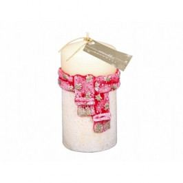 Vánoční svíčka Šála, červená