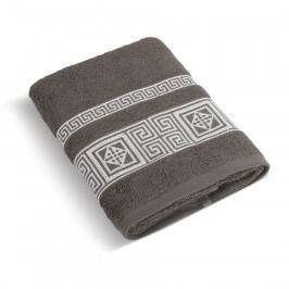 Bellatex Froté ručník Řecká kolekce hnědá, 50 x 100 cm