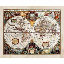 AG Art Fototapeta XXL Stará mapa 360 x 270 cm, 4 díly  Tapety