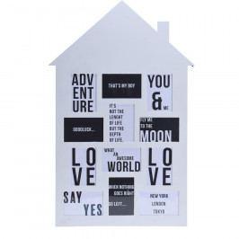 Koopman Fotorámeček na 12 fotografií My house bílá, 52 x 82,5 cm