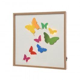 LED obraz Butterflies, 30 x 30 cm Obrazy