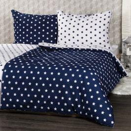 4Home bavlněné povlečení Stars Navy blue, 160 x 200 cm, 70 x 80 cm