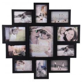 Fotorámeček na 11 fotografií Family černá, 61x61x2 cm  Rámečky na fotky