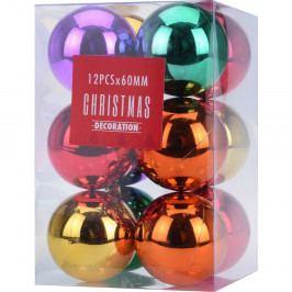 Sada vánočních ozdob Colori, 12 ks
