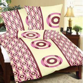 Bellatex Povlečení bavlna Terče bordo , 140 x 200 cm, 70 x 90 cm