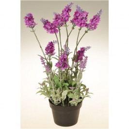 Umělá květina Levandule v květináči tmavě růžová, 38 cm