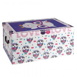 Úložný box Sovičky, fialová