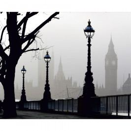 AG Art Fototapeta XXL Londýn v mlze 360 x 270 cm, 4 díly