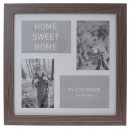 Koopman Fotorámeček na 4 fotografie Lamego tmavě hnědá, 37 x 37 cm Rámečky na fotky