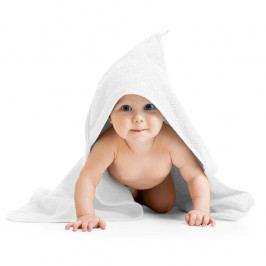 Bellatex Osuška pro miminka s kapuckou bílá, 80 x 80 cm