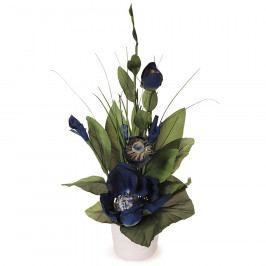 Aranžmá Magnolie v květináči modrá, 50 cm