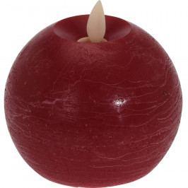 LED Svíčka Flamme červená, pr. 9,5 cm