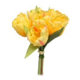 Umělá květina svazek Tulipán, žlutá Umělé květiny