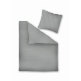 Šedé povlečení z mikroperkálu na dvoulůžko DecoKing, 200 x 220 cm