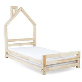 Dětská postel z přírodního smrkového dřeva Benlemi Wally,80x160cm