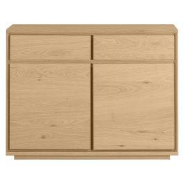 Dřevěná komoda s 2 šuplíky Artemob Stockholm