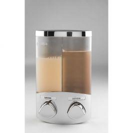 Dvojitý dávkovač na mýdlo ve stříbrné barvě Compactor Uno, 620ml