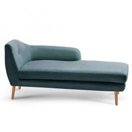 Tyrkysově modrá lenoška Scandi by Stella Cadente Maison Lounge, pravý roh