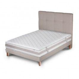 Světle šedá postel s matrací Stella Cadente Maison Saturne, 140x200 cm