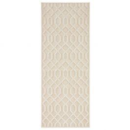 Krémový běhoun Mint Rugs Shine Mero, 80 x 250 cm