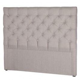 Světle šedé čelo postele Stella Cadente Maison Pegaz, 180x118 cm