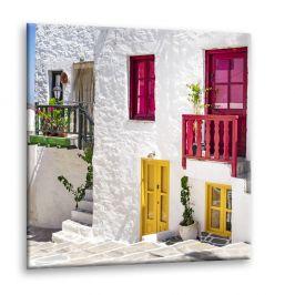 Obraz Styler Glasspik Destination Greece III, 30 x 30 cm