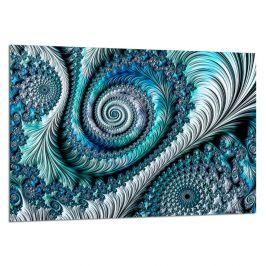 Obraz Styler Glasspik Fractal Blue, 80 x 120 cm