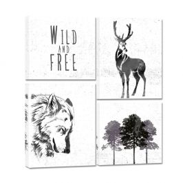 Vícedílný obraz Styler Scandi Wild & Free, 64 x 74 cm