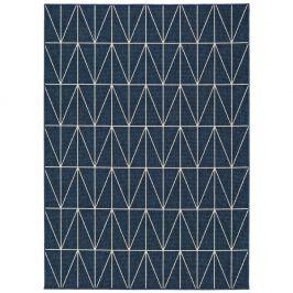 Modrý koberec vhodný i na ven Universal Nicol Blue Luzzo, 80 x 150 cm