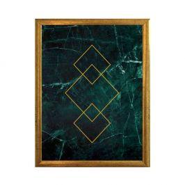 Plakát v rámu ve zlaté barvě Piacenza Art Art, 33,5 x 23,5 cm
