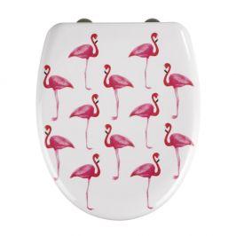 WC sedátko se snadným zavíráním Wenko Flamingo, 45 x 38 cm
