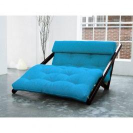 Lenoška Karup Figo, Wenge/Horizon Blue, 120 cm