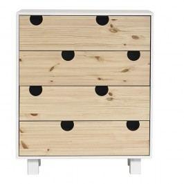 Komoda se čtyřmi zásuvkami Karup Design House White/Natural