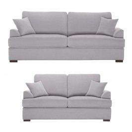 Dvoudílná sedací souprava Jalouse Maison Irina, světle šedá