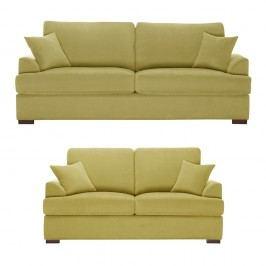 Žlutá dvoudílná sedací souprava Jalouse Maison Irina