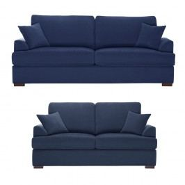 Dvoudílná sedací souprava Jalouse Maison Irina, námořnicky modrá