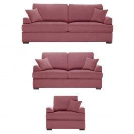 Trojdílná sedací souprava Jalouse Maison Irina, starorůžová