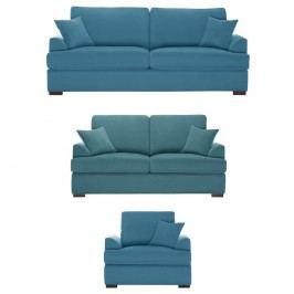 Trojdílná sedací souprava Jalouse Maison Irina, modrá