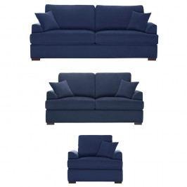 Trojdílná sedací souprava Jalouse Maison Irina, tmavě modrá