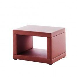 Červený koženkový noční stolek Novative