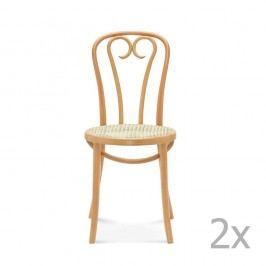 Sada 2 dřevěných židlí Fameg Jesper