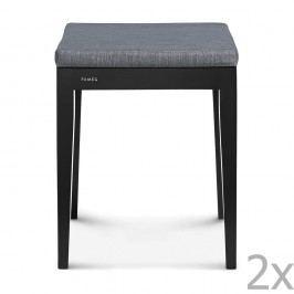 Sada 2 černých stoliček Fameg Dlar