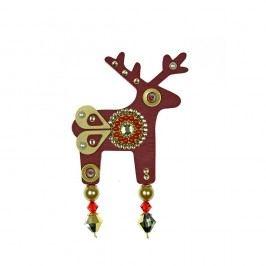 Červená brož Deers Belisea,7cm