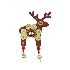 Červená brož Deers Beatrice,7cm
