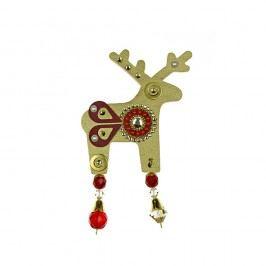 Zlatá brož Deers Bessie,7cm