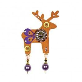 Oranžová brož Deers Benicio,7cm